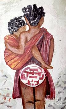 Mother and Child by Kalikata MBula