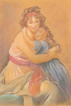 Mother And Daughter by Jovica Kostic