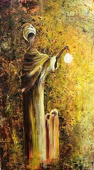Mother and Lamp by Marietjie Henning