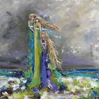 Mother Daughter Beach by Karen Ahuja