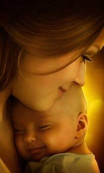 Mother feels for a child by Amelia Rodriguez