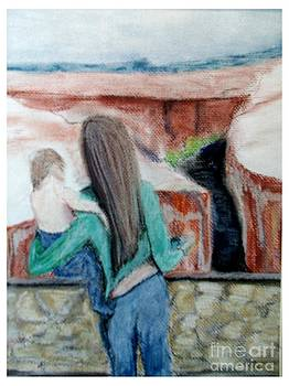 Mother Holding Child by Joseph Wetzel