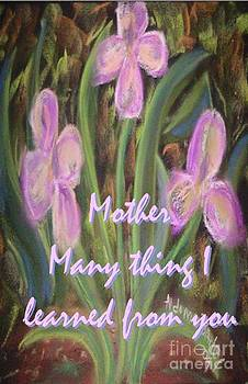 Mother I learned by Aldonia Bailey
