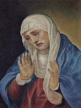 Mother of Sorrows after Titian by Pamela Humbargar