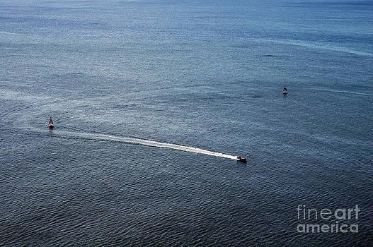 Motorboat Turning Back by Angela Kail