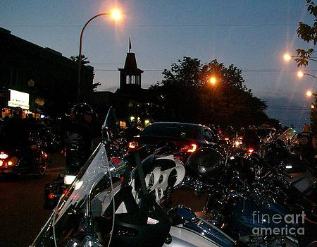 Gail Matthews - Motorcycle Night Parade at Americade