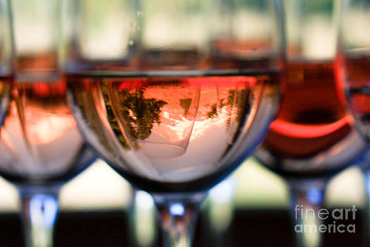 Mount Hood in a Wine Glass by Cari Gesch