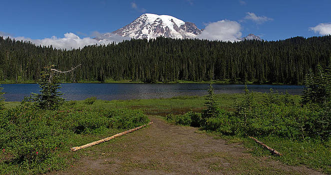 Mount Rainier from Reflection Lake by Bob Noble