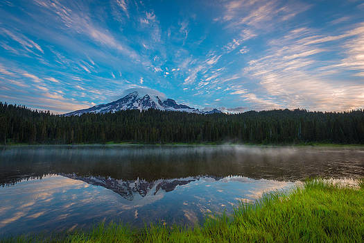 Mount Rainier Reflection by Mike  Walker