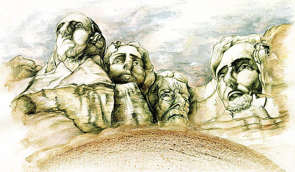 Art America Gallery Peter Potter - Mount Rushmore Monument - Fine Art