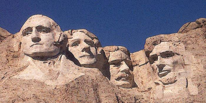 Art America Gallery Peter Potter - Mount Rushmore American Presidents