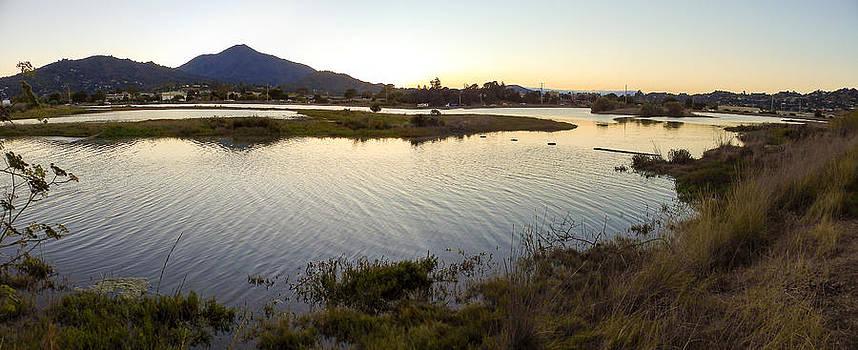 Mount Tamalpais from Corte Madera CA by G Matthew Laughton