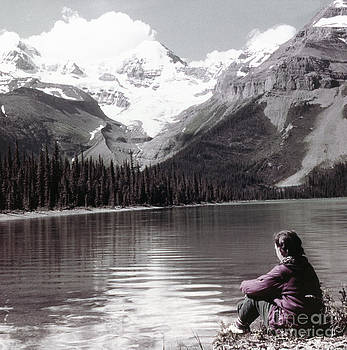 Linda Rae Cuthbertson - Mount Unwin and Mount Charlton Jasper National Park Alberta Canada Vintage Photo