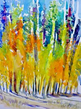 Mountain Air Aspens by Therese Fowler-Bailey