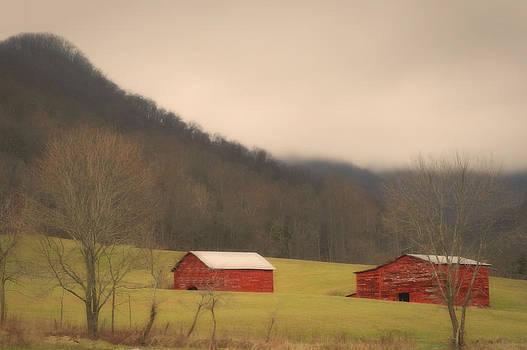Mountain Farm Misty Morning by Ben Shields