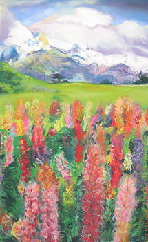 Mountain Flowers by Linda Dessaint