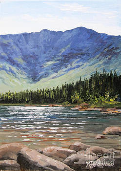 Mountain Katahdin Chimney Pond by Varvara Harmon