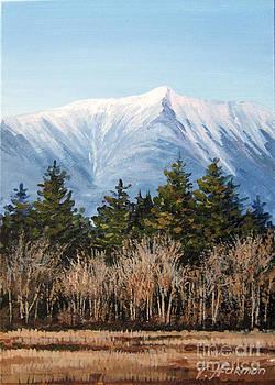 Mountain Katahdin Late Autumn by Varvara Harmon