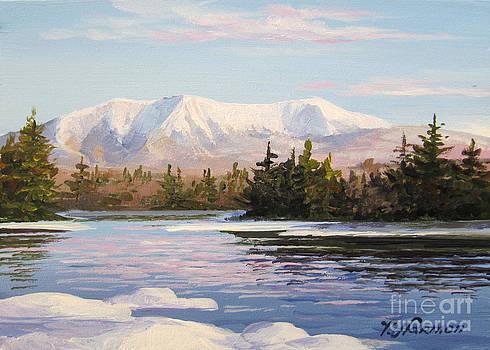 Mountain Katahdin Mini five Penobscot River by Varvara Harmon