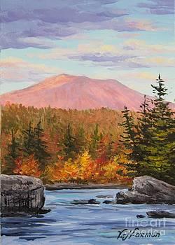 Mountain Katahdin Mini Ten Penobscot River by Varvara Harmon
