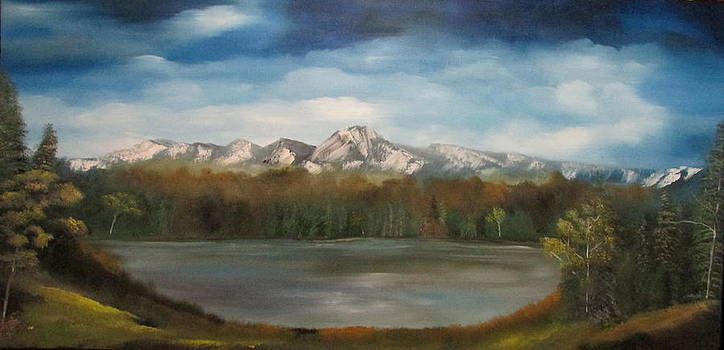Mountain lake by Dawn Nickel
