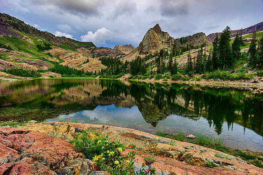 Mountain Lake reflections by Kevin Rowe