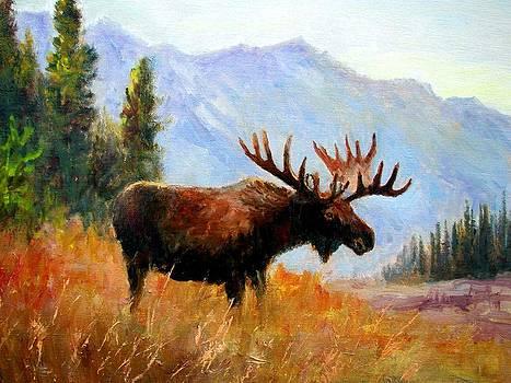 Mountain Moose by Robert Stump