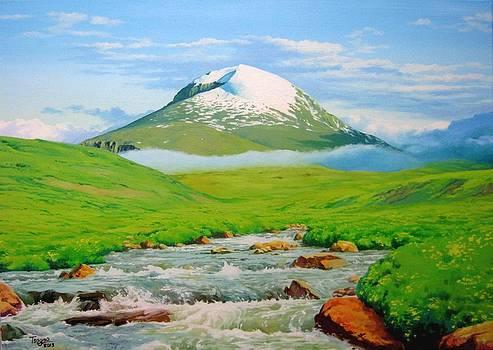 Mountain of Otgontenger by Tsogbayar Chuluunbaatar