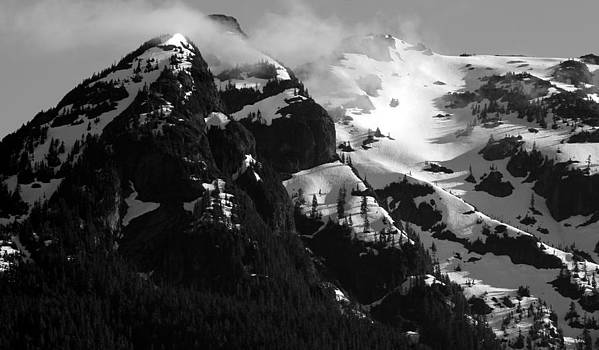 Mountain Range Black and White Two by Diane Rada