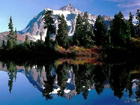 Mountain Reflection by Cole Black