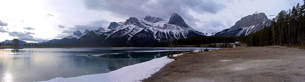 Mountain Sunrise Reservoir - Canmore, Alberta by Ian Mcadie