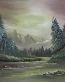 Mountain river by Dawn Nickel