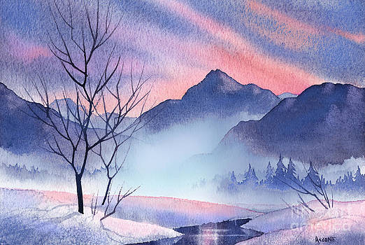 Mountain Silhouette by Teresa Ascone
