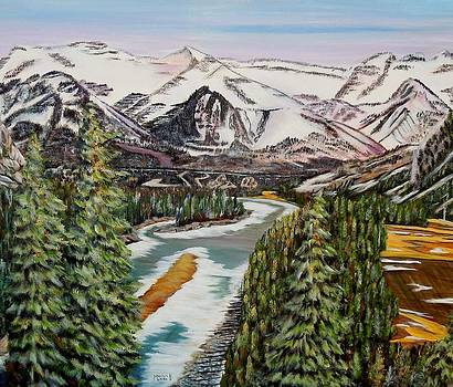 Mountain Spring - Banff Springs by Marilyn  McNish