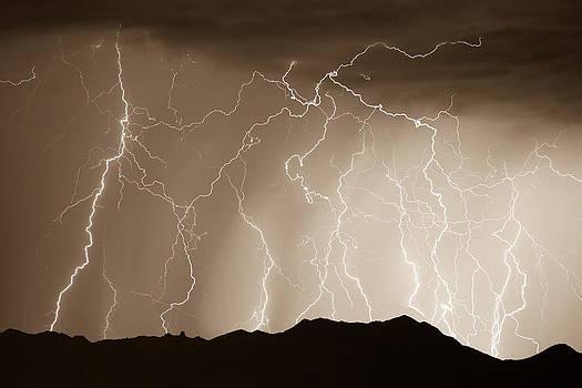 James BO  Insogna - Mountain Storm - Sepia Print