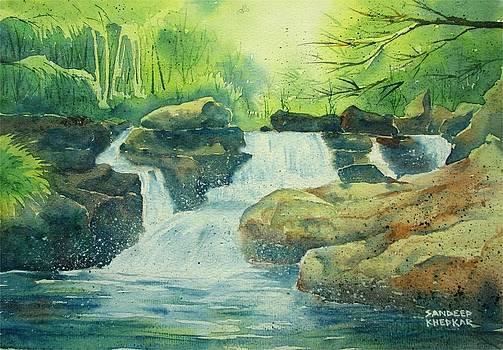 Mountain Stream by Sandeep Khedkar
