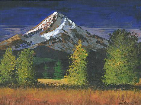 Mountain Sunset by Harold Shull