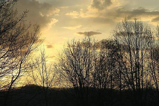 Mountain Sunset One by Paula Tohline Calhoun