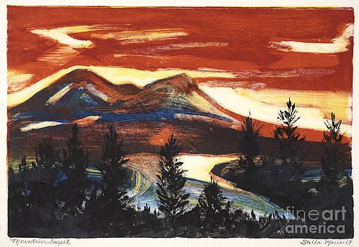 Mountain Sunset by Stella Sherman