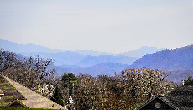 Mountain Tops and Roof Tops by Linda A Waterhouse