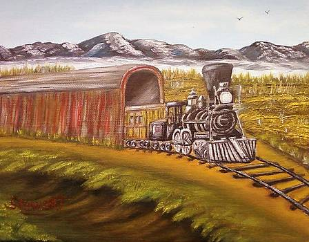 Mountain Train by Nancy Stewart