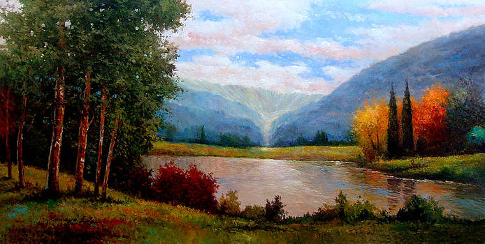 Kanayo Ede - Mountain view. landscape print