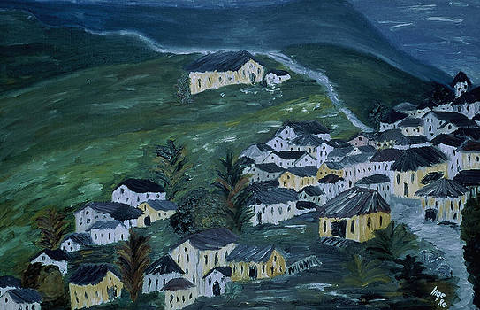 Mountain village by Inge Lewis