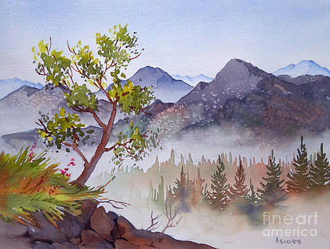 Mountains and Woodland by Teresa Ascone