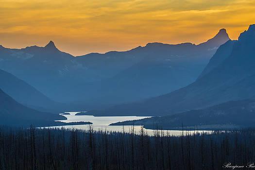 Mountains at Dusk by Ranjana Pai
