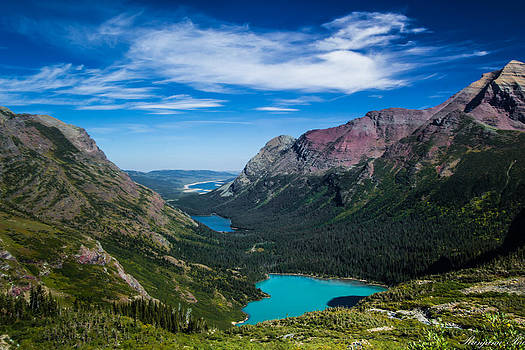 Mountains at Grinnell Glacier Lake by Ranjana Pai