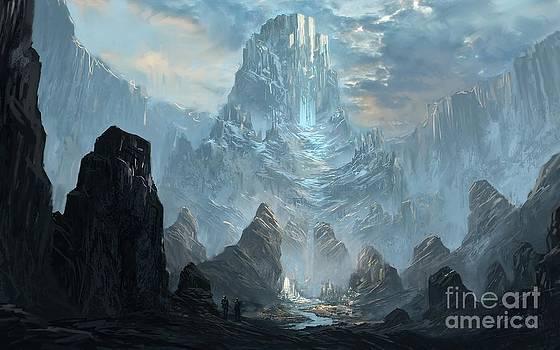 Mountains  Castles  Fantasy   Artwork   by Peak Taste