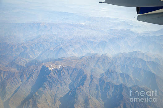 Mountains of China - aerial view of Gansu Province by David Hill