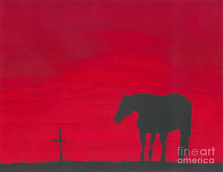 Mourning Horse by Sarah Bevard