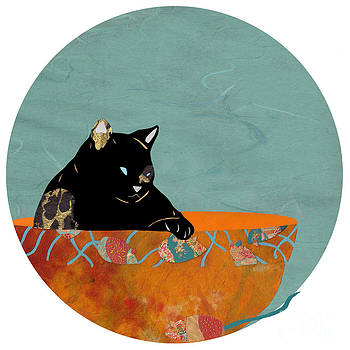Mouse Tails with Black Cat by Mary Atchison